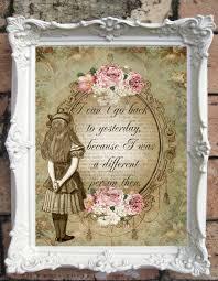 alice in wonderland quote art print alice in wonderland
