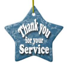 thank you for your service ornaments keepsake ornaments zazzle