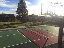 Backyard Sports Court by Creative Juices Decor The Pickleball Sports Court Completed