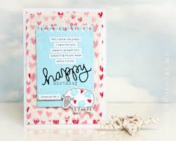 happy birthday bible verse card pink lion handmade cards