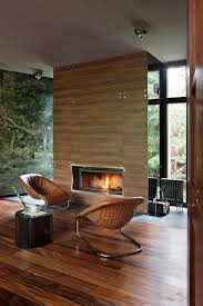 fireplace chairs sophisticated house near moscow by olga freiman