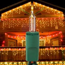 14 ft icicle string lights green wire 150 mini lights