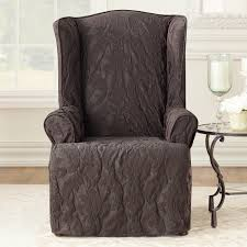 sure fit slipcovers wing chair decorating appealing wing chair slipcover for interior design ideas