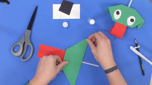 paper frog craft with blowing tongue youtube