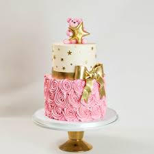 gold and pink baby shower pink and gold baby shower cake wedding