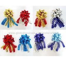 christmas ribbon bows wholesale christmas ribbon bow embossed ribbon curly bow for gift