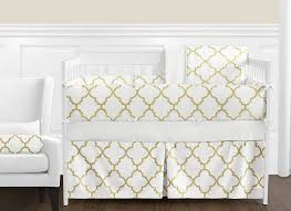 Gold Crib Bedding by Amazon Com Clothes Laundry Hamper For White And Gold Trellis