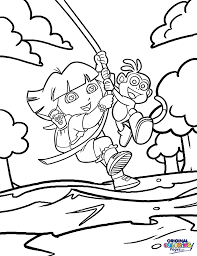 dora the explorer u2013 coloring pages u2013 original coloring pages
