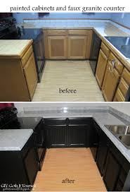 giy goth it yourself kitchen makeover faux granite counter