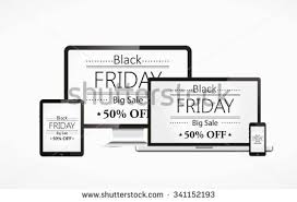 black friday monitor computer monitor like appled blank screen stock vector 180897887