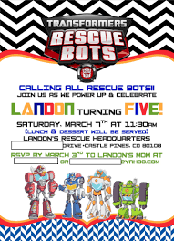 Rescue Bots Favors by Landon S Rescue Bots 5th Birthday Project Nursery