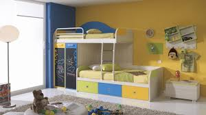 Bunk Bed Side Table Boys Bedroom Artistic Yellow Sheet Bunk Bed And Grey Rug