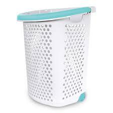 Stainless Steel Laundry Hamper by Rolling Laundry Basket Laundry Cart 25 Bushel On Wheels W Basket