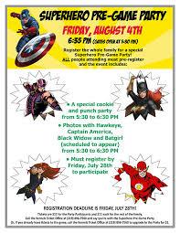 office party flyer august 4 superhero pre game party cedar rapids kernels about