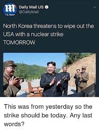 Ls Memes - daily mail us daily mail ls new is new north korea threatens to
