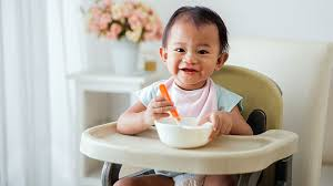 Baby Learn To Sit Chair Introducing Solid Foods To Your Baby What To Expect