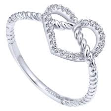 diamond heart ring white gold diamond heart ring j douglas jewelers