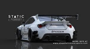 subaru brz black body kit pandem scion frs subaru brz v3 static motorsports