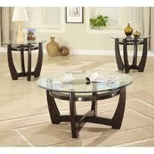 3 piece coffee table set coffee table sets you ll love wayfair