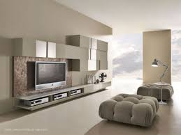 living room cozy large area with glossy white storage units and