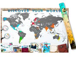 Personalized World Map by Scrape Map Deluxe Scrape Map World Edition Deluxe