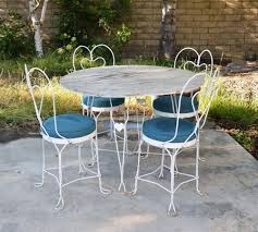 Antique Rod Iron Patio Furniture by White Wrought Iron Patio Furniture Home Design Ideas