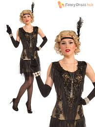 Gatsby Halloween Costumes Ladies Deluxe Flapper Costume Womens 1920s Gatsby Fancy