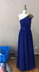 buy long floor length gold sequin one shoulder bridesmaid dress