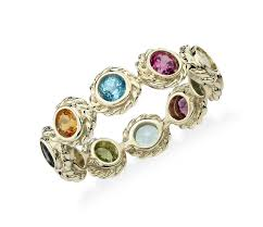 colored gem rings images Multi gemstone eternity confetti ring in 14k yellow gold 3mm