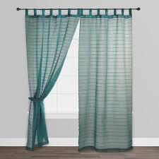 blue striped sahaj jute curtains set of 2 world market