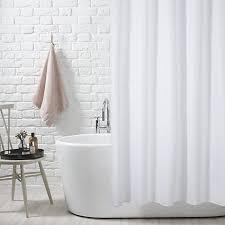 White Shower Curtain Trending In Bathroom Decor Airy White Shower Curtains White