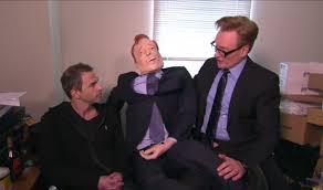 conan conducts staff performance reviews on the air from best of the
