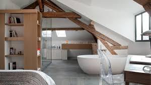 salle de bain ouverte sur chambre rénovation d un pavillon en banlieue parisienne