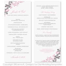 wedding program format wedding program template instant exquisite vines
