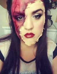 halloween torn off face makeup beauty look ideas easy