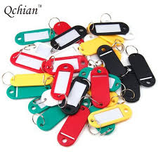 color key rings images Online shop 10pcs plastic keychain blank key ring diy name tags jpg