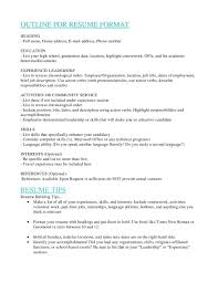 Resume Job Experience Order by Resume Sections Order Resume For Your Job Application