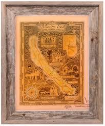 buy mission trail map print san antonio unique texas gifts