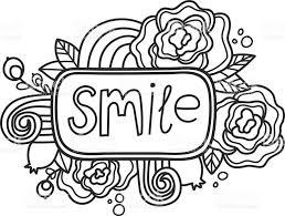 printable smile sticker fun summer doodle frame floral