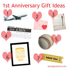 one year anniversary gift ideas for him anniversary gift ideas seeing