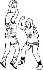 girls basketball playing guard coloring page wecoloringpage