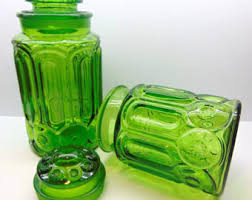 green kitchen canisters green canisters etsy