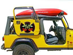 jeep wrangler unlimited soft top door rack for all soft top 2 door jeeps jeep wrangler tj 1997