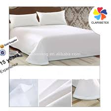 on sale cheap flat100 cotton plain white used hotel bed sheets