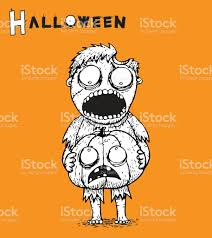 zombie halloween background zombie halloween background vector by hand drawing stock vector