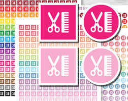 haircut stickers etsy