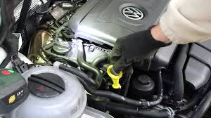 volkswagen engines how to check and add oil vw golf vii gasoline 220hp engine 2 liter