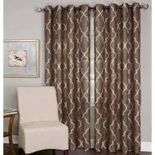 Drapes Grommet Top Mocha Curtains U0026 Drapes Window Treatments The Home Depot