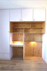 placard de chambre en bois rangement chambre enfant bureau tebopin bois blanc éclairage placard
