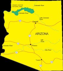 map of az az map arizona state map